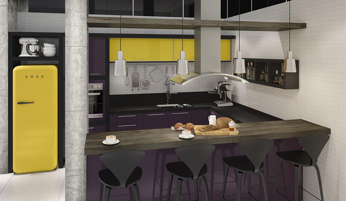 Cozinha Americana Pequena Office E Home