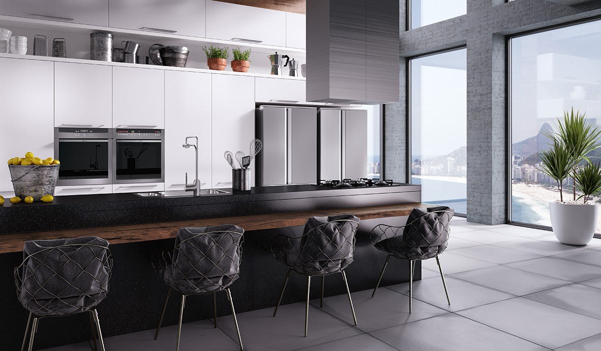 Cozinha Planejada Com Ilha Office E Home