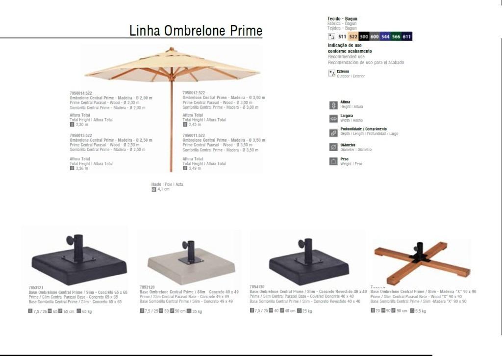 Linha Ombrelone Prime 3