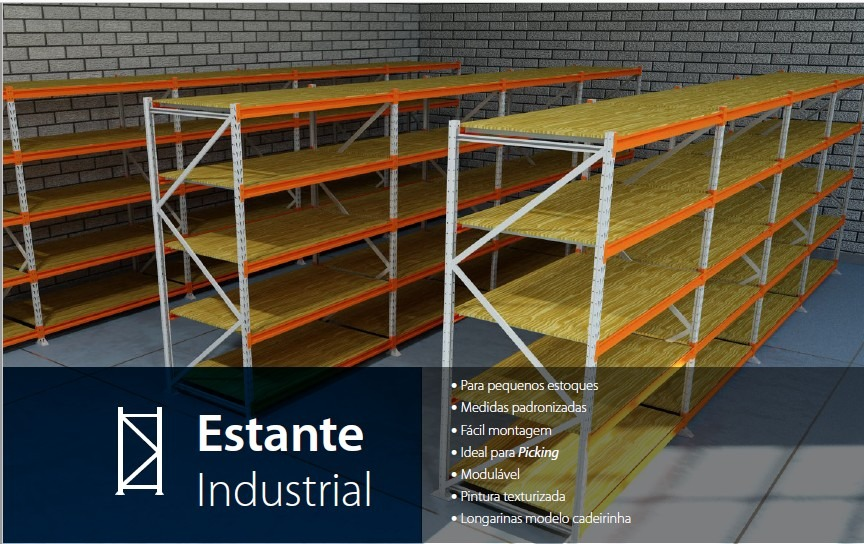 estante de aço industrial